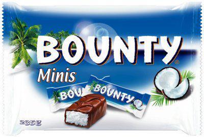 Bounty Vollmilch Minis, 355-g-Beutel