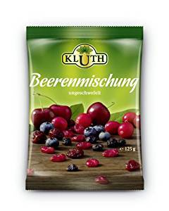 Kluth Beerenmischung 125g, 4er Pack (4 x 125 g)