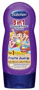 Bübchen Kids Shampoo und Shower plus Spülung 3-in-1 Freche Zwerge, 4er Pack (4 x 230 ml)