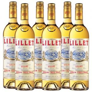 Lillet Blanc Aperitif klassischer Weißwein aus Frankreich 750ml 6er Pack