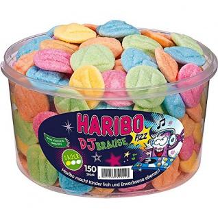 Haribo DJ Brause saures Fruchtgummi 6fach sortiert 1200g 2er Pack