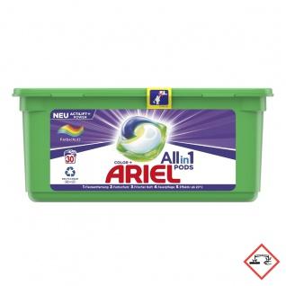 Ariel All in 1 Pods Colorwaschmittel mit Farbschutz 30 Waschladungen