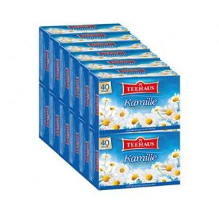 Teehaus Kamille Teegetränk Mild Kamillen Kräutertee 12er Pack