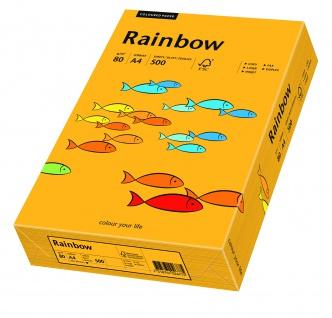 Kopierpapier Rainbow mittelorange A4