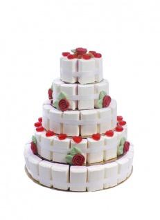 Fruchtgummi Hochzeitstorte extra groß 5 stöckig 24 cm hoch 2000g