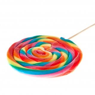 Rainbow Spiral Lolly Maxi extra großer Fruchtlutscher einzel 80g