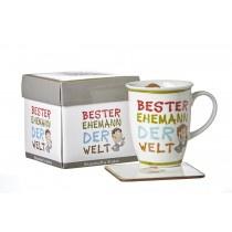Ritzenhoff und Breker Kaffeebecher mit Geschenkebox Bester Ehemann