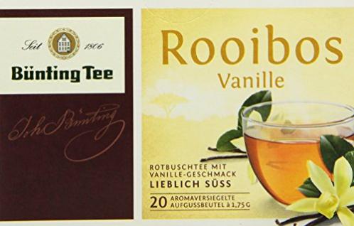 Bünting Tee Rooibos Vanille Rotbuschtee lieblich süss 12er Pack
