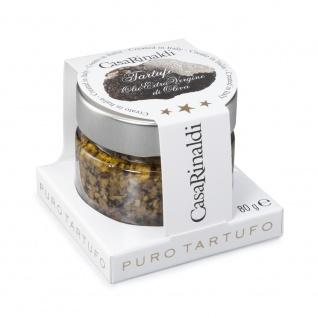 Casa Rinaldi Schwarztrüffel gemahlen in Olivenöl im Glas 80g