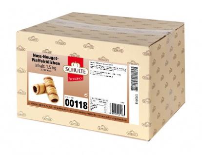 Nuss Nougat Röllchen aus knusprigem Waffelgebäck von Schulte 1500g
