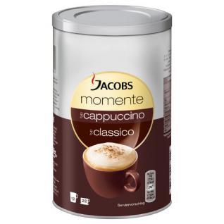 Jacobs Krönung Momente Cappuccino Dose, Feine Cremigkeit, Instant Kaffee, mild, 220g, 346665