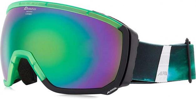 Alpina Scarabeo MM green black Ski und Snowbordbrille emerald