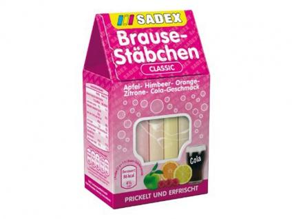 Sadex Brause Stäbchen Classic Apfel Orange Himbeer Zitrone Cola 125g