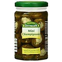 Feinkost Dittmann Mini-Champignons gegrillt und gefüllt mit Frischkäsecreme, 1er Pack (1 x 285 g)