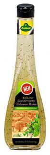 Kühne - Kräuter Condimento Balsamico Bianco mediterran mild Weißweinessig Salatsauce Salatdressing - 500ml