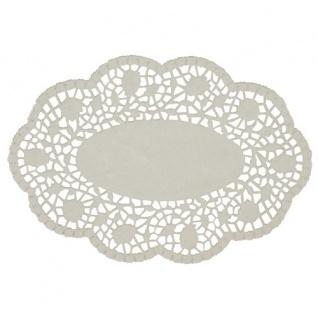 Mokkadeckchen oval weiß aus Papier von Papstar 22 cm 500 Stück
