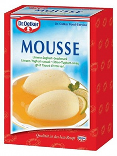 Dr Oetker Mousse Limone Joghurt Geschmack fruchig locker 1000g