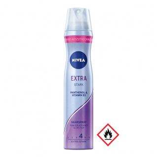 Nivea Haarspray Extra Stark Panthenol und Vitamin B3 250ml 4er Pack