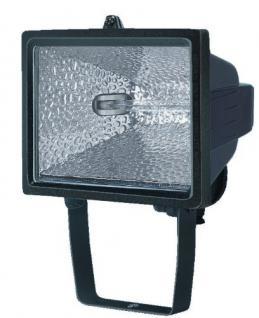 Brennenstuhl Halogenstrahler / Flutlicht Halogen ideal als Baustrahler zur Montage auf Stativ (Außenstrahler IP54 geprüft, 400 Watt) Farbe: schwarz