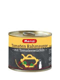 Menzi Tomaten Rahmsuppe mit Tomatenwürfeln cremig mit Sahne 200ml