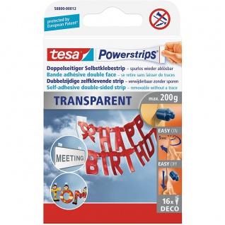 tesa Powerstrips Deco transparent UV Beständig haltekraft max 0, 2 kg