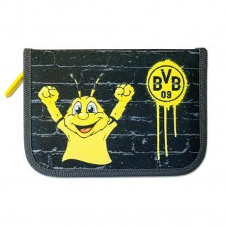Federmäppchen Borussia Dortmund aus Nylon mit Buntstiften BVB Logo