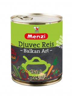 Menzi Djuvec Reis nach Balkan Art mit 21 Prozent Gemüse 800g