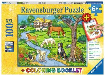 Ravensburger Kinderpuzzle - Liebste Bauernhoftiere 100 Teile 490x360mm