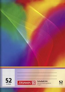 Heft DIN A6 kariert Lineatur 52