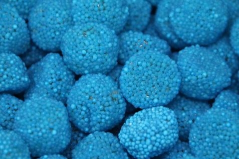 Fruchtgummi blaue Bolitos Blaubeer Geschmack Raspberries 1000g
