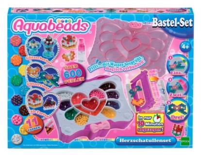 Aquabeads Herz-Schatullenset Sprühperlen-Set über 600 Perlen