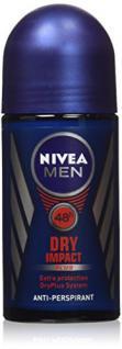 Nivea for Men Dry Impact Antiperispirant Deodorant Roll-on 50 Ml