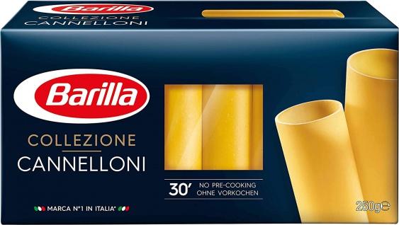 Barilla Cannelloni La Collezione Pasta aus Hartweizen 250g 4er Pack