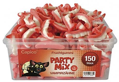Capico Fruchtgummi Party Mix Vampierzähne Halal geeignet 1050g