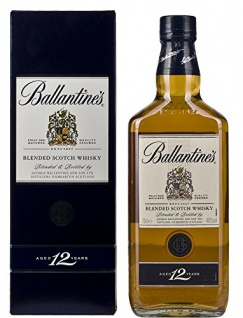 Ballantine's 12 Years Old + GB 40% Vol. 0, 7 l