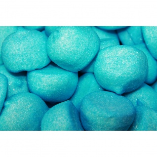 Mellow Speckbälle blau große gezuckerte Schaumzuckerbälle 125g