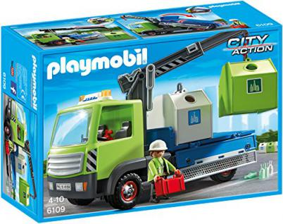PLAYMOBIL 6109 - Altglas-LKW mit Containern