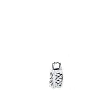 Küchenprofi Vierkantreibe Mini Edelstahl Hobel Raspel