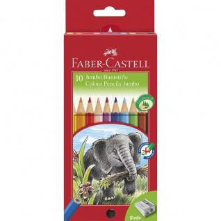 Faber Castell Colour Pencil Jumbo Bunstift Farbstift 10er Etui