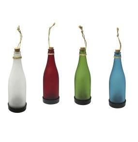 Solar Wein Flasche Lampe Outdoor Nachtlicht zum Aufhängen Sortiert 7cm