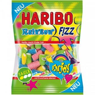 Haribo Rainbow Fizz, Gummibärchen, Weingummi, Fruchtgummi Sauer, 175g, 18er Pack