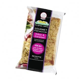 Mestemacher Gourmet Focaccia Käse und Zwiebel Brotspezialität 250g