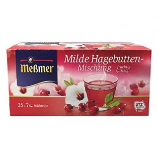 Meßmer Tee Milde Hagebuttenmischung Früchtetee Hibiskus 75 Gramm