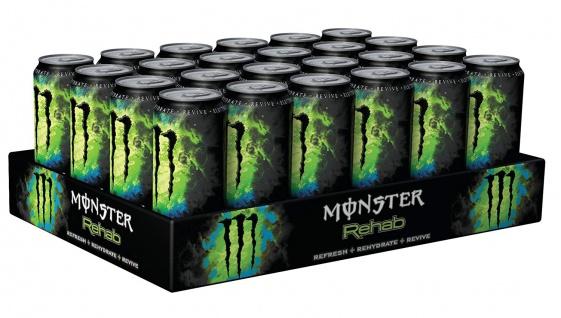 Monster Rehab Green Tea Energy Drink mit Taurin und Guarana 500ml 24erPack