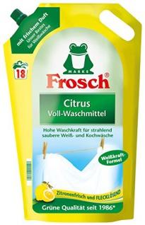Frosch Citrus Voll-Waschmittel hohe Waschkraft 18 WL 5er Pack