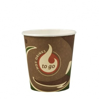 Papstar Trinkbecher Pappbecher Kaffeetasse Serie To Go 80 Stück