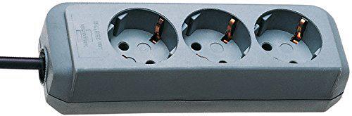 Brennenstuhl Eco-Line Steckdosenleiste 3-fach silbergrau ohne Schalter, 1158630015