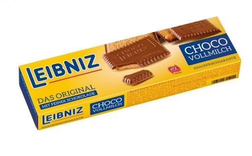 Bahlsen Leibniz Choco Butterkeks mit knackiger Schokolade 125g 12er Pack