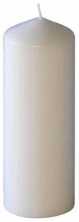 Kerzen Stumpenkerzen Farbe Weiss 200x70mm RAL Qualität 1 Stück