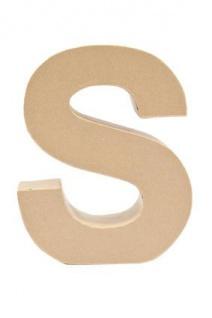 """Pappmache Buchstabe """" S"""" stehend zum basteln kreativ Rico Design Idee"""